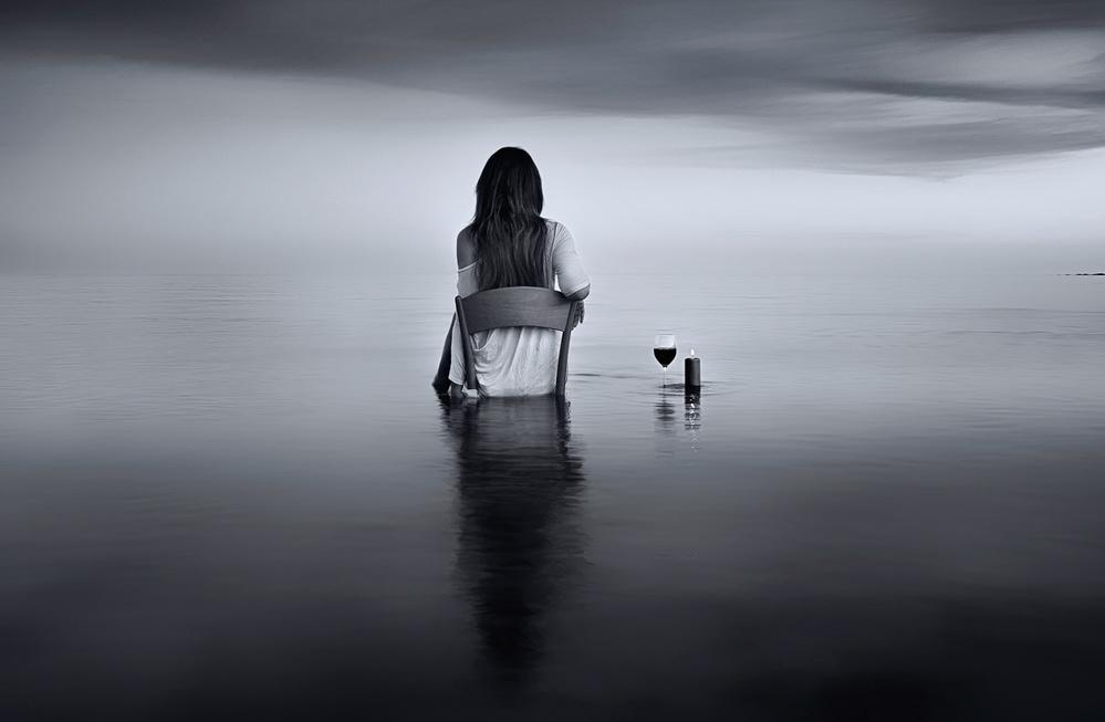 A piece of fine art art photography titled Enjoy the Silence by Maria Kaimaki