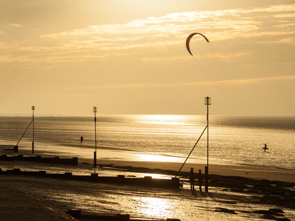 A piece of fine art art photography titled Kite at Sunset by John Bull