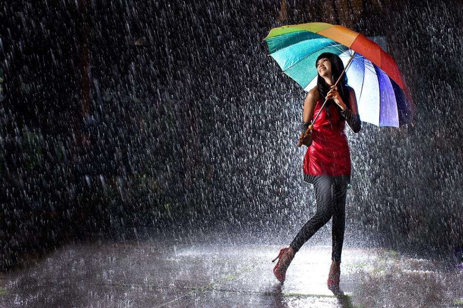 A piece of fine art art photography titled Rain With Love by Widjita Raya Muljadi