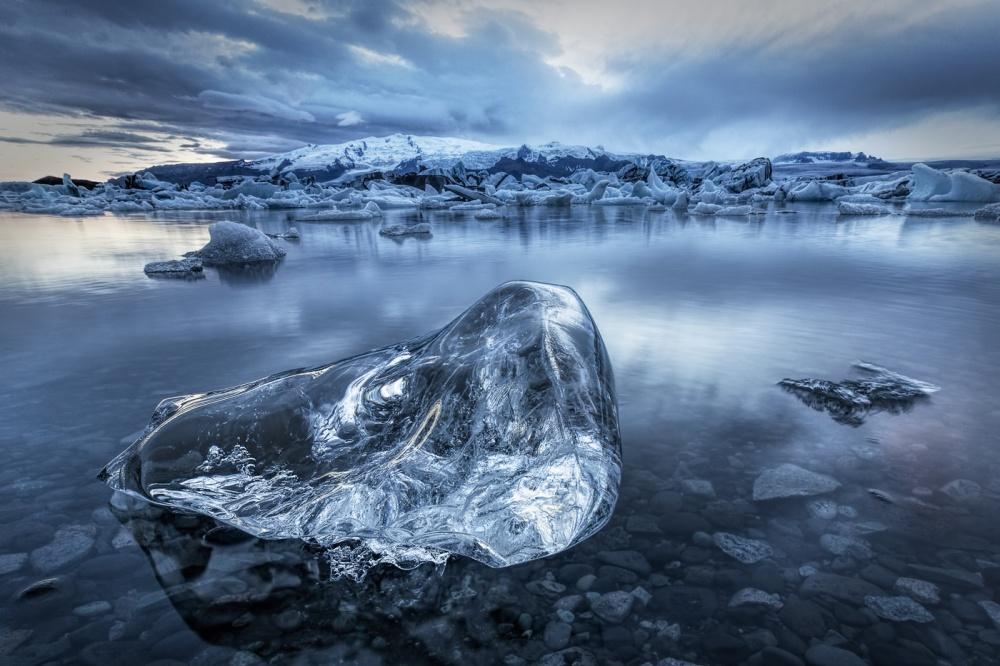 A piece of fine art art photography titled IceCube by Yann Quétu