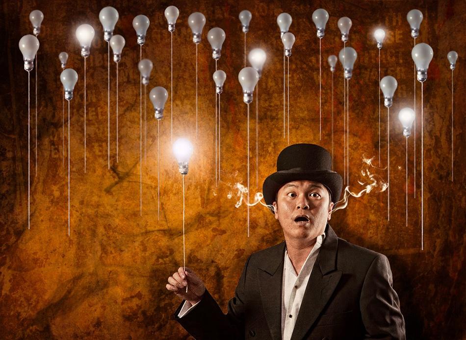 A piece of fine art art photography titled The Light Bulb Conspiracy by Coltrane Koh