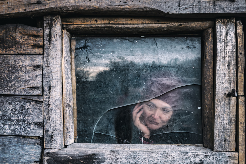 A piece of fine art art photography titled A Cold Fall by F. Dilek Uyar