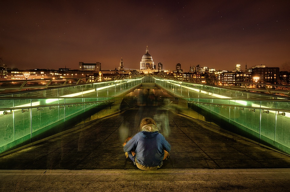 A piece of fine art art photography titled Homeless In London by Constantinos Hinis