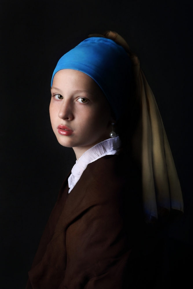 A piece of fine art art photography titled Girl With a Pearl Earring by Victoria Ivanova