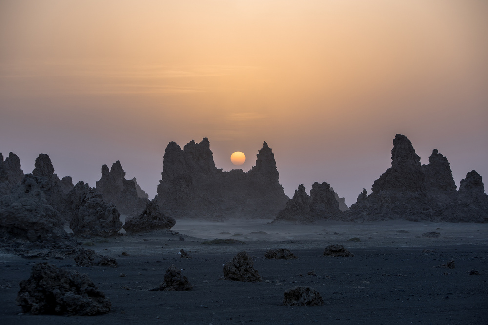 View this piece of fine art photography titled Lac Abbe in Dikhil area by Raphael Nguyen