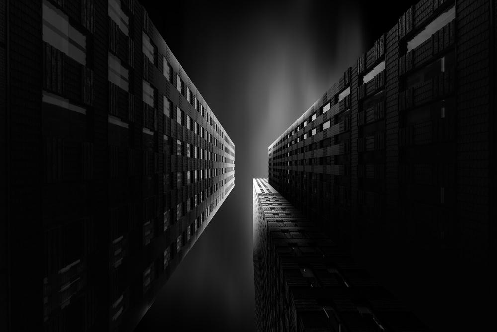 A piece of fine art art photography titled Amsterdam Black by Matthias Haeussler