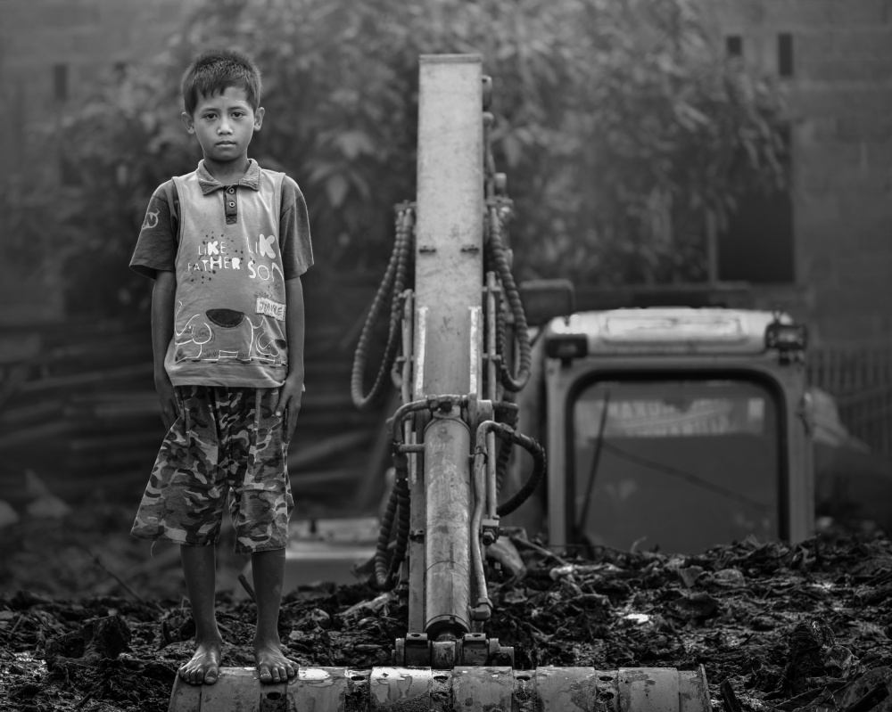 A piece of fine art art photography titled Childhood by Fahmi Bhs