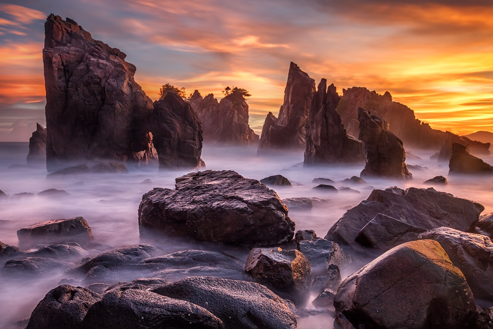 A piece of fine art art photography titled Heaven of Rocks by Gunarto Song