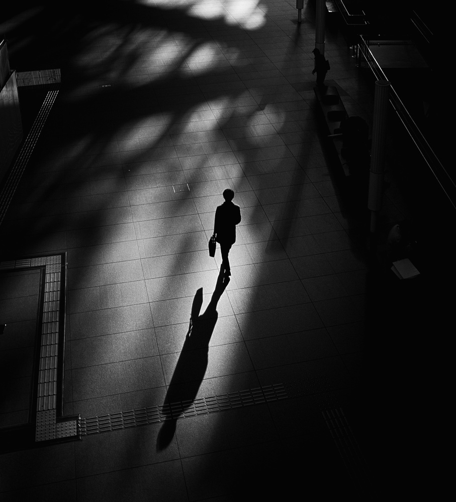 View this piece of fine art photography titled Shadow of a person by Adam Weh