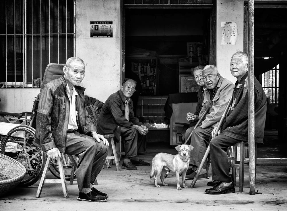A piece of fine art art photography titled Social Club by Robert
