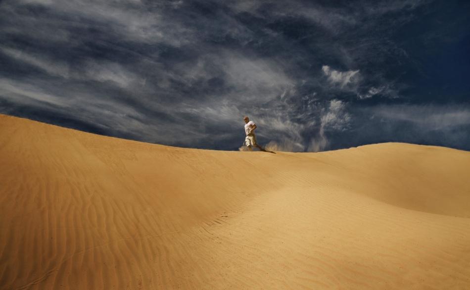 A piece of fine art art photography titled Ridge Runner by Marcus Bj [ Ö ] rkman