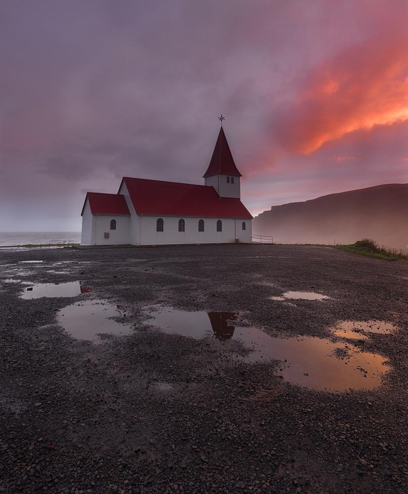 A piece of fine art art photography titled Church On Fire by Jorge Gonzalez Herrera