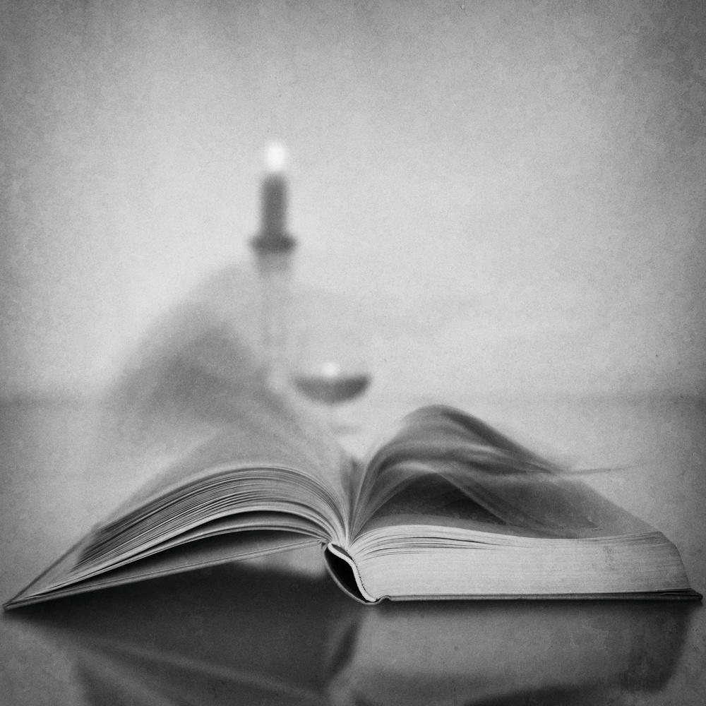 A piece of fine art art photography titled You May Skip This Chapter by Roswitha Schleicher-Schwarz