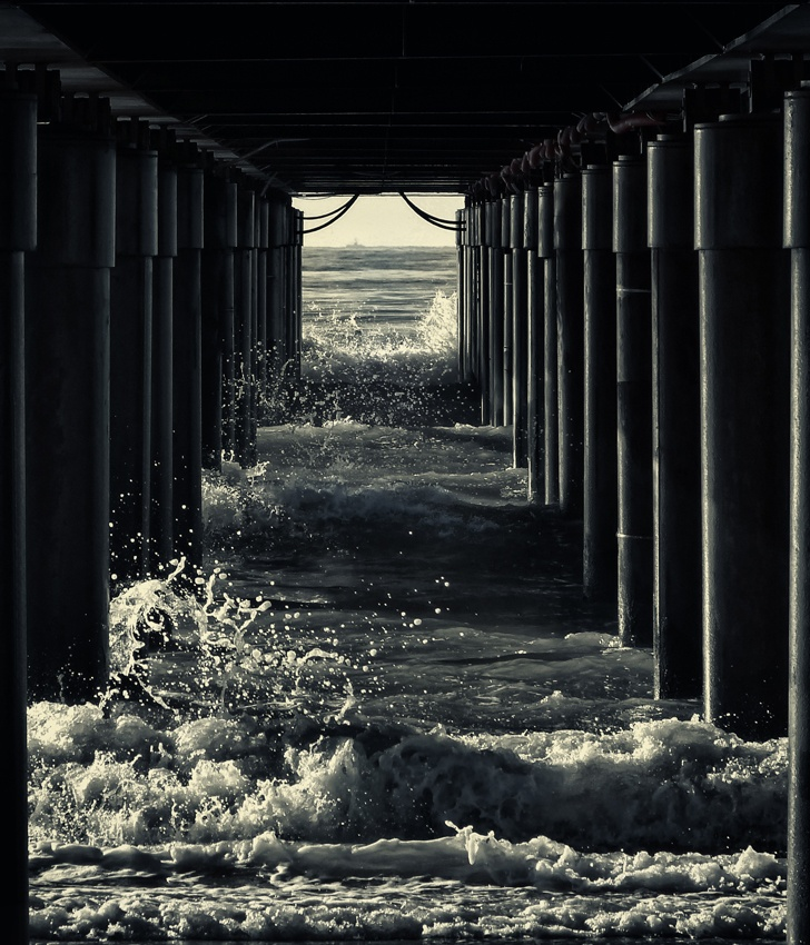 A piece of fine art art photography titled Under the Pier by Marco Bianchetti