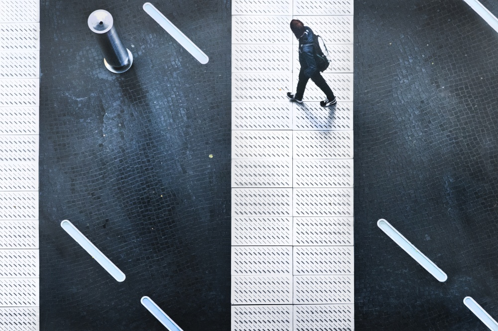 A piece of fine art art photography titled Crossing the Gap by Linda Wride