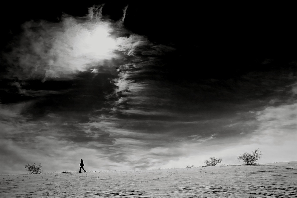 A piece of fine art art photography titled Walking to Eternity by Gyuraw