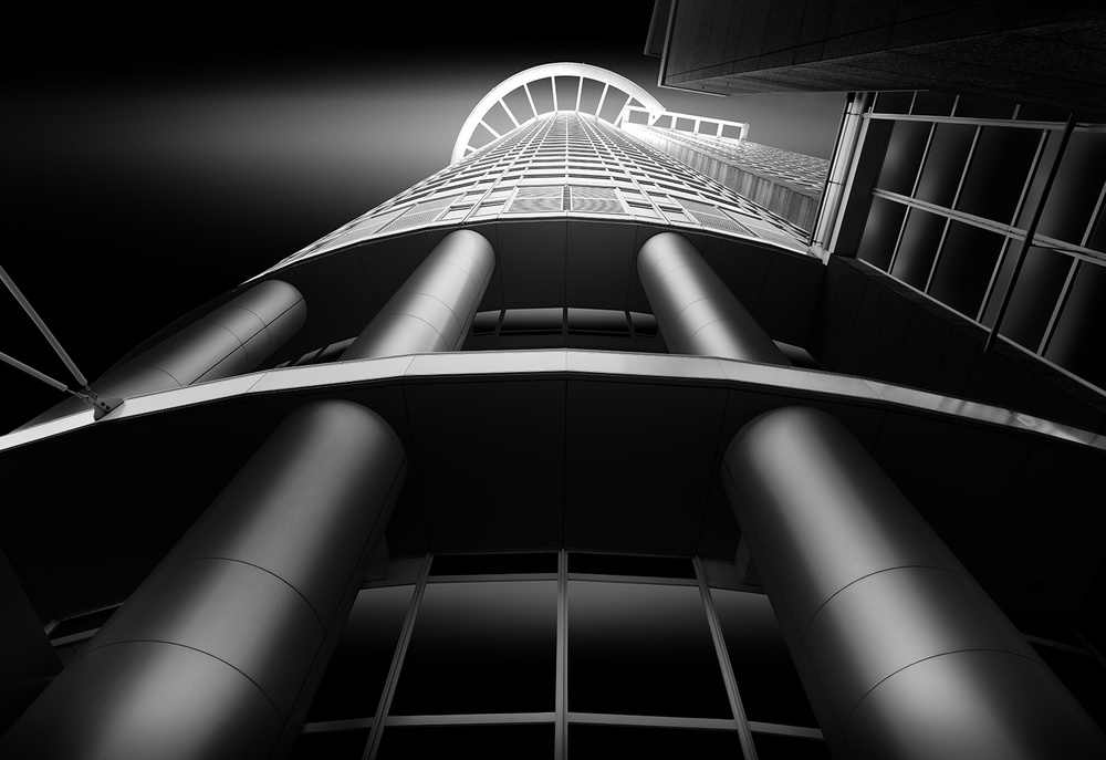 A piece of fine art art photography titled Kronenhochhaus (Crown-Highrise) by Wolfgang Mothes