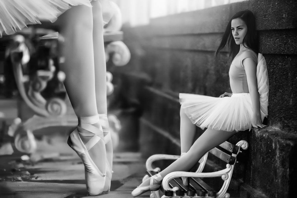 A piece of fine art art photography titled The Ballet Shoes by Win Leslee