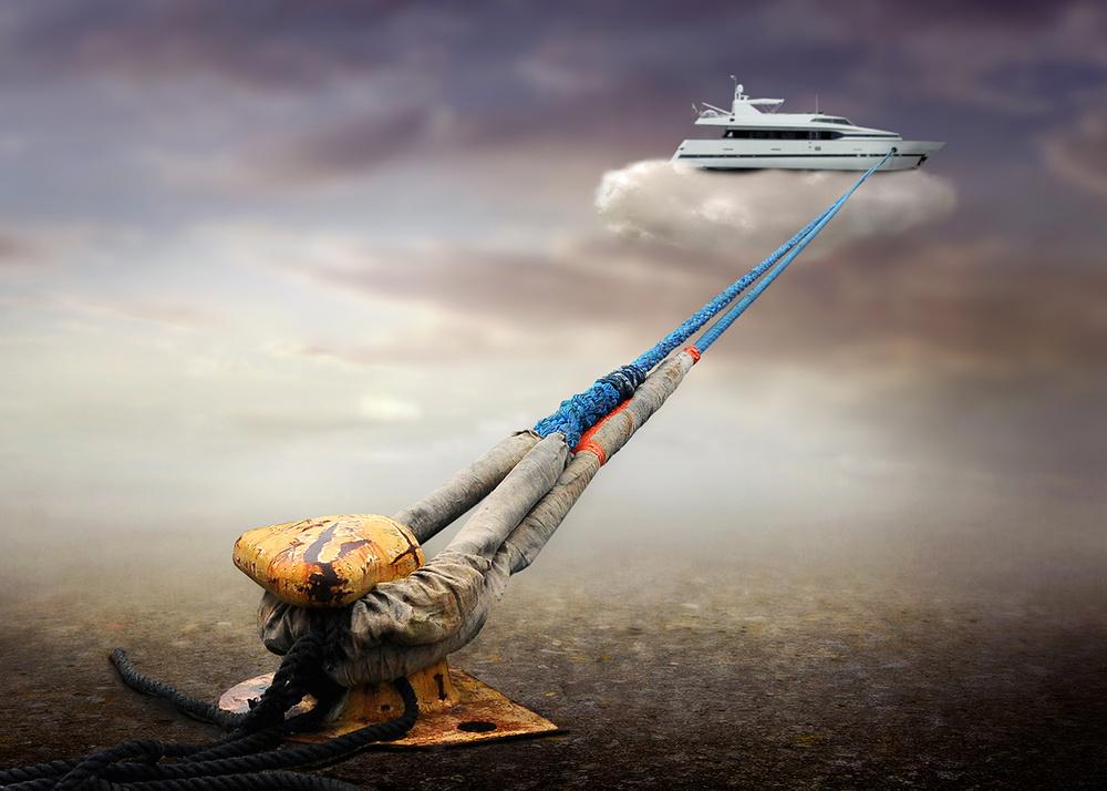A piece of fine art art photography titled Cloud Stop by Ben Goossens