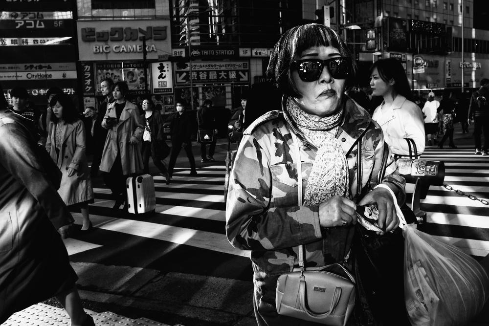 A piece of fine art art photography titled Shibuya,Tokyo by Tatsuo Suzuki
