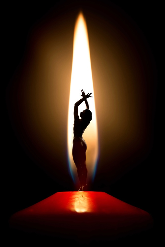 A piece of fine art art photography titled Candle Light by Luis Louro