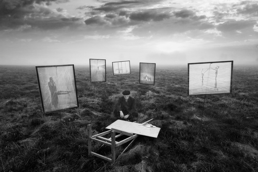 A piece of fine art art photography titled Looking Into the Past by Leszek Paradowski