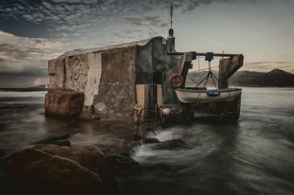 A piece of fine art art photography titled Fisherman's Hut by Pavol Stranak