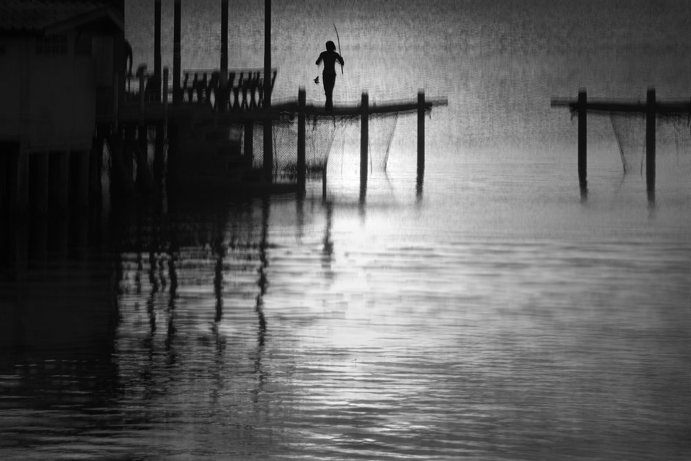 A piece of fine art art photography titled In the Empty Sea by Ekkachai Khemkum