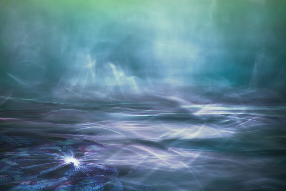 A piece of fine art art photography titled Alien Arctic Waters by Willy Marthinussen