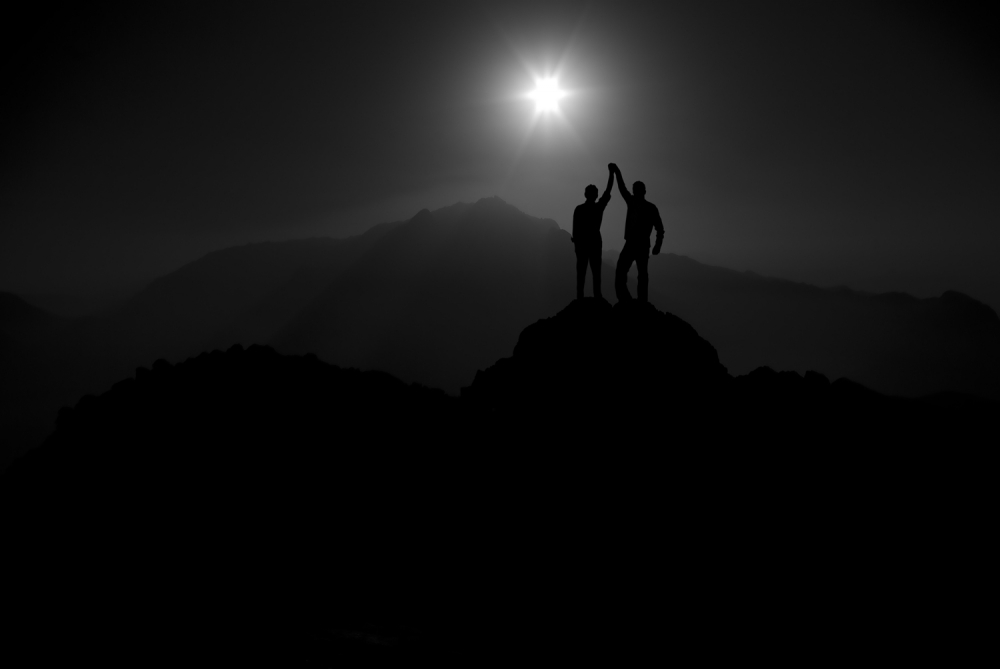 A piece of fine art art photography titled Father and Son by Kaveh Hosseini (Steppenwolf)
