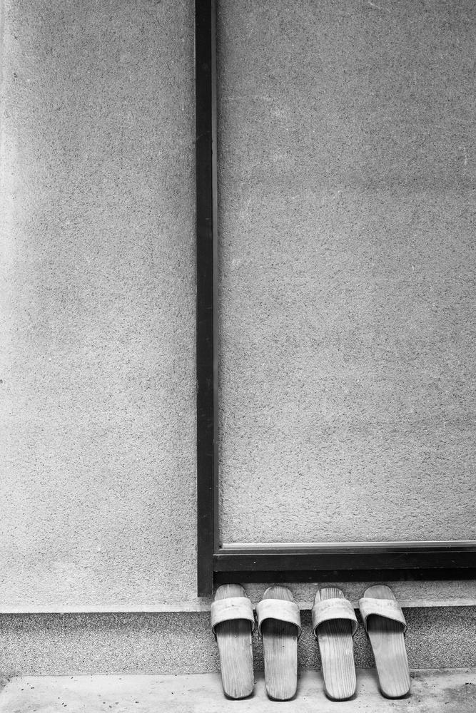 A piece of fine art art photography titled Slippers by Lucie Hulejova-Pesakova