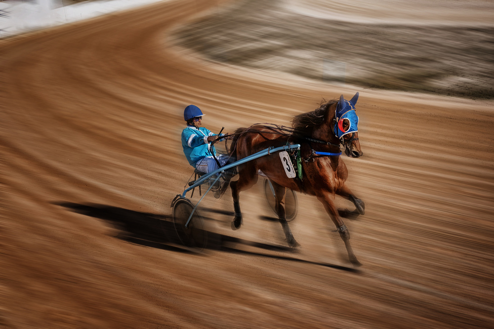 A piece of fine art art photography titled Horse Races In Menorca by Xavier Garci