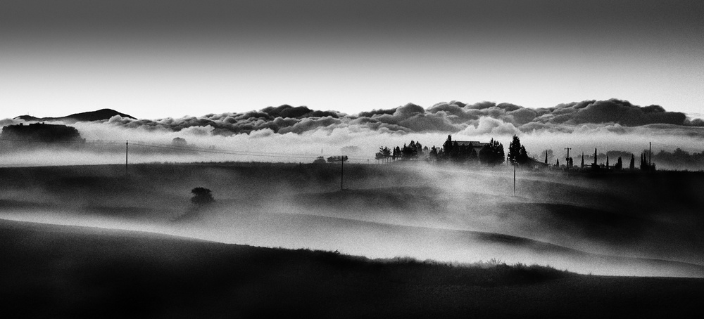 A piece of fine art art photography titled House In the Clouds by Peter Svoboda, MQEP