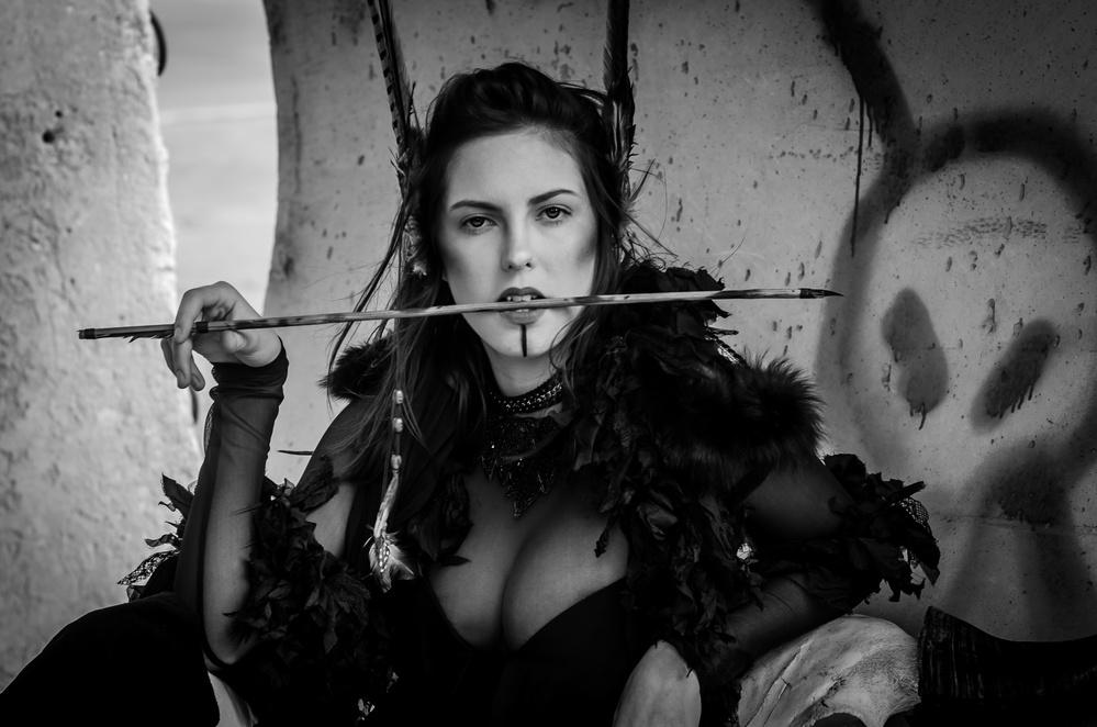 A piece of fine art art photography titled The Arrow by Dov Fuchs