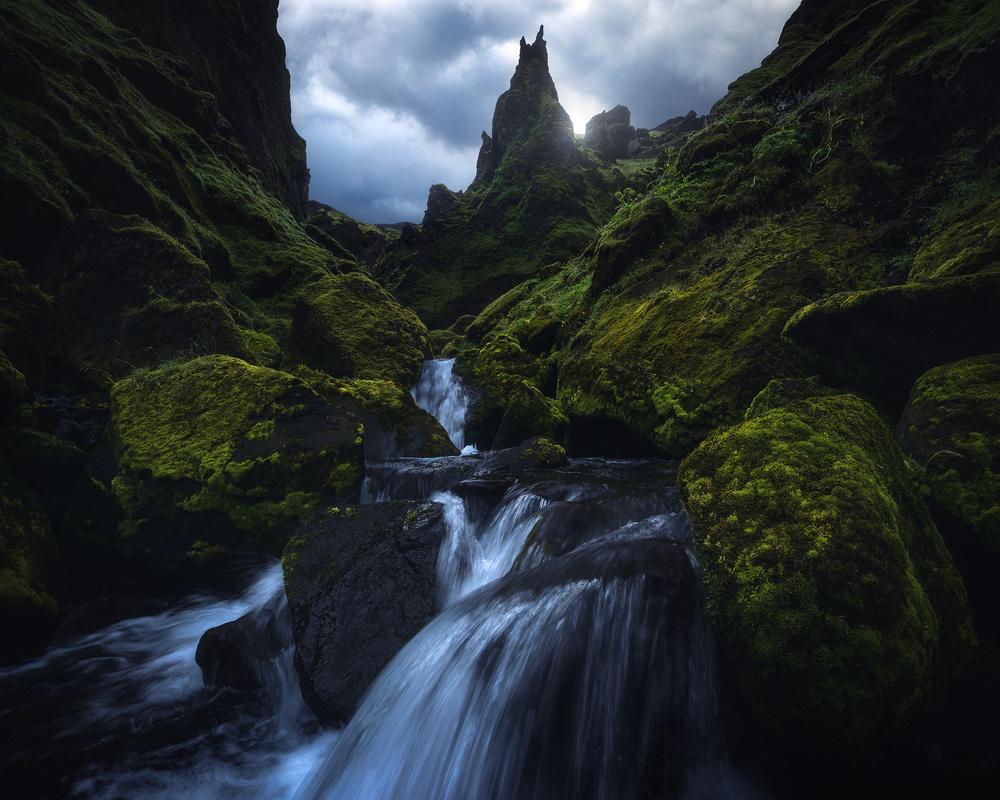 A piece of fine art art photography titled Icelandic Drama by Daniel Fleischhacker