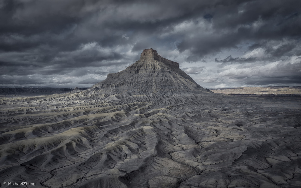 View this piece of fine art photography titled Factory Butte by Michael Zheng