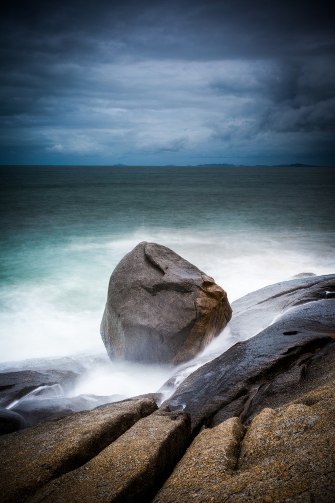 A piece of fine art art photography titled The Rock by Alfred Myers