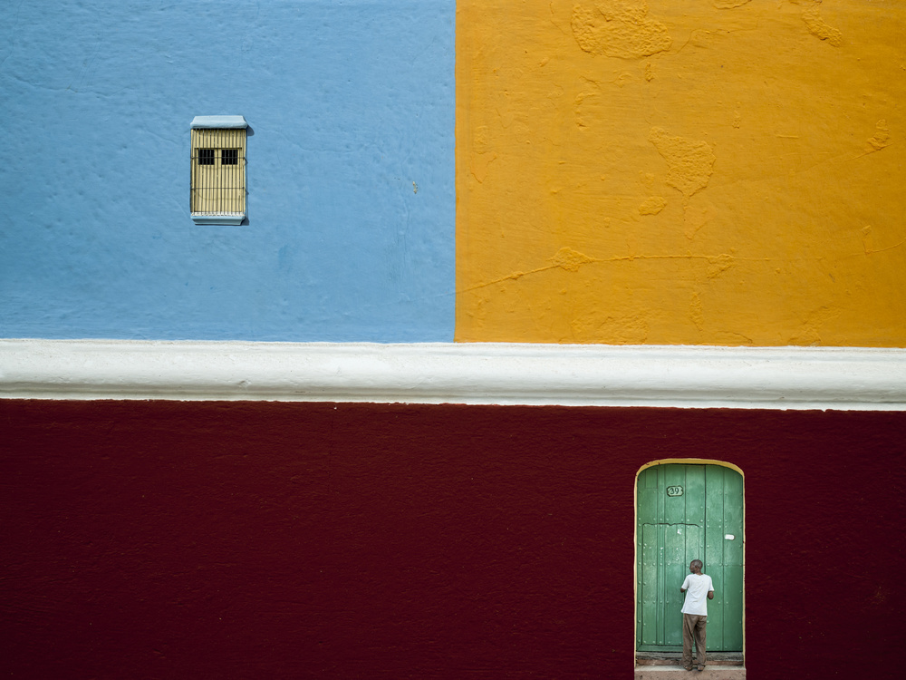 A piece of fine art art photography titled Old Trinidat Facada by Svetlin Yosifov