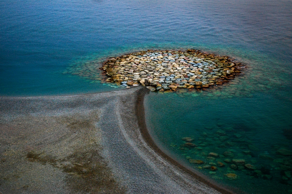 A piece of fine art art photography titled The Tyrrhenian Sea Shore - from Hues of Italy by Jacek Stefan