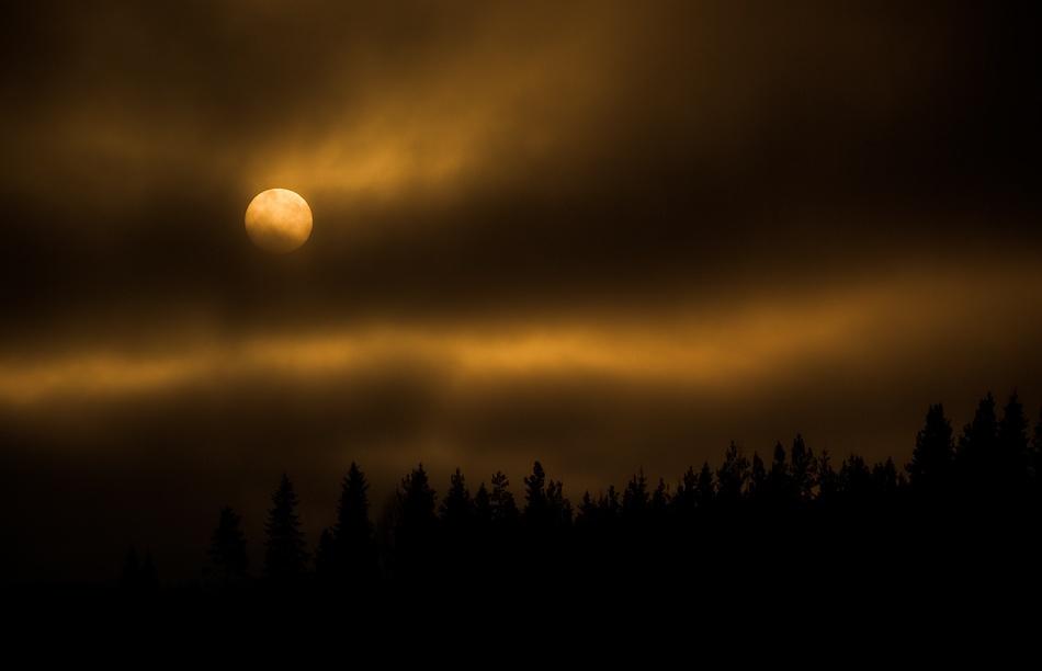 A piece of fine art art photography titled Clouds In Flames by Joni Niemelä