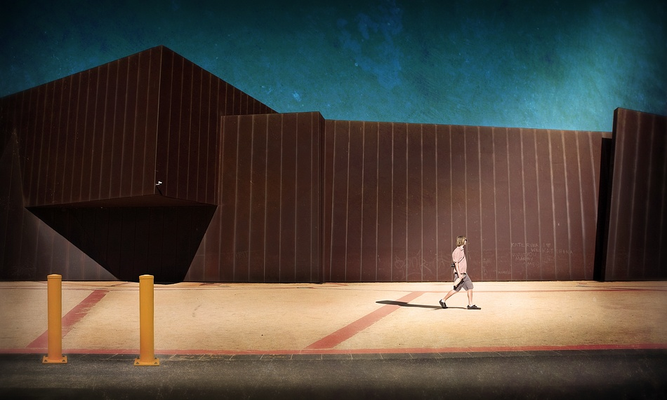 A piece of fine art art photography titled The Wall by Adrian Donoghue