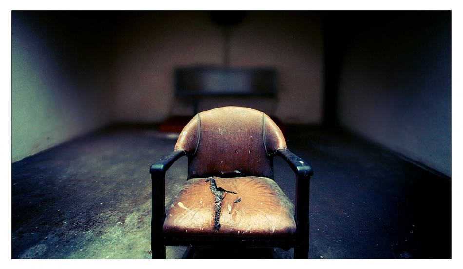 A piece of fine art art photography titled The Attendant's Chair by Tim Johnstone
