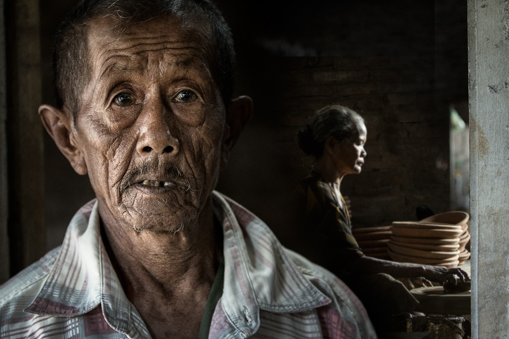 A piece of fine art art photography titled Portrait of Uncle Parman by Nicholas Surya Wibowo