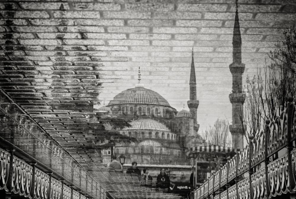 A piece of fine art art photography titled The Blue Mosque II by Bruno Kolovrat