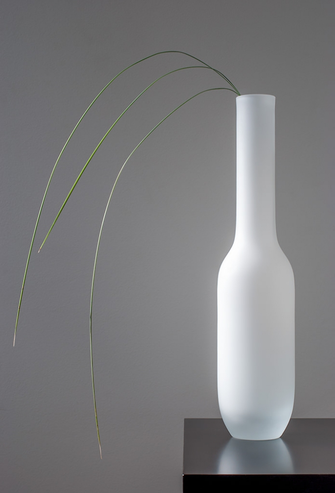 Vase With Tussock Grass