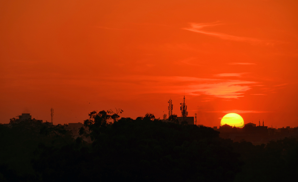 A piece of fine art art photography titled Sunset Over Rajasthan by Miro Susta