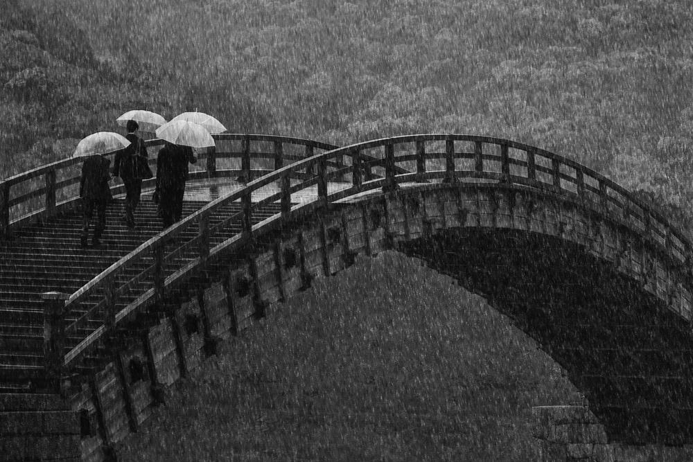 A piece of fine art art photography titled Rainy Company by Ekkachai Khemkum