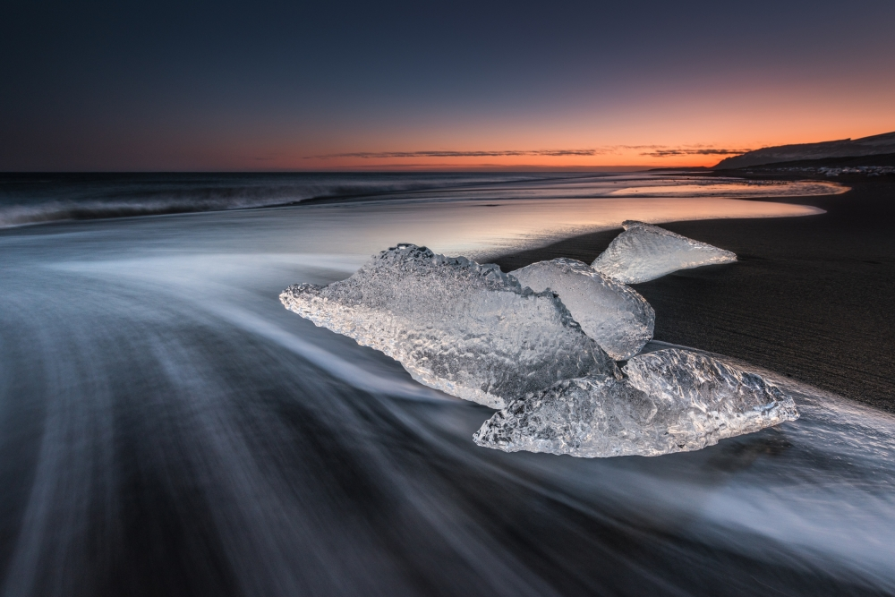 A piece of fine art art photography titled Crystal Beach by Raymond Hoffmann