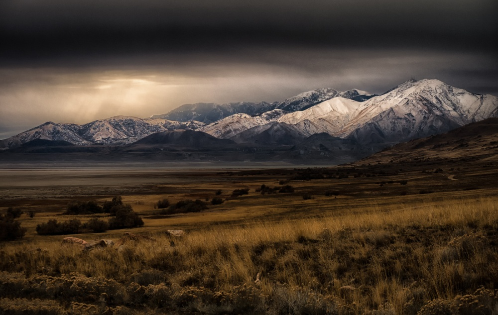 A piece of fine art art photography titled Antelope Mountains by Mark Seawell