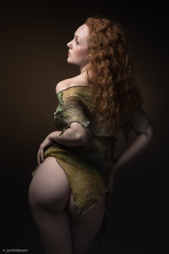 ginger-haired lass